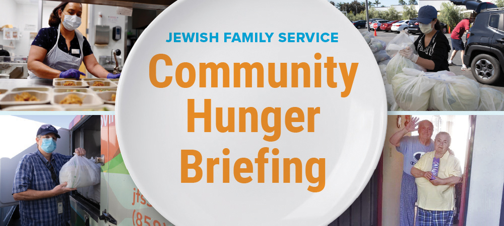 Community hunger briefing graphic