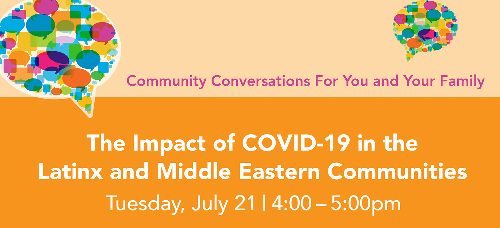 The Impact of Covid-19 in the Latinx and Middle Eastern Communities graphic