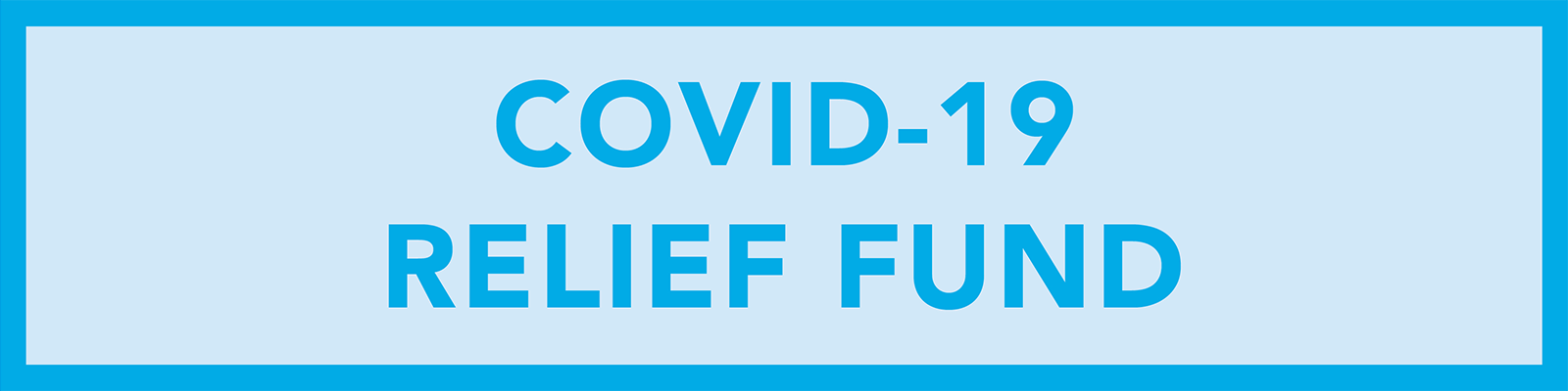 COVID-19 Relief Fund banner